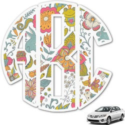 Wild Garden Monogram Car Decal (Personalized)