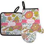 Wild Garden Oven Mitt & Pot Holder (Personalized)