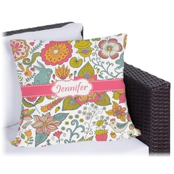 Wild Garden Outdoor Pillow (Personalized)
