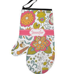 Wild Garden Left Oven Mitt (Personalized)