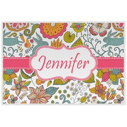 Wild Garden Laminated Placemat w/ Name or Text