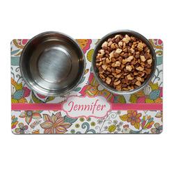 Wild Garden Pet Bowl Mat (Personalized)