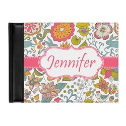 Wild Garden Genuine Leather Guest Book (Personalized)