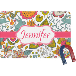 Wild Garden Rectangular Fridge Magnet (Personalized)