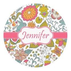 Wild Garden Round Decal - Custom Size (Personalized)