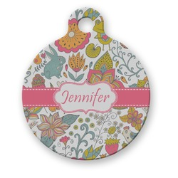 Wild Garden Round Pet Tag (Personalized)