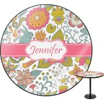 Wild Garden Round Table Top (Personalized)