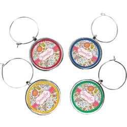 Wild Garden Wine Charms (Set of 4) (Personalized)