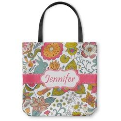 Wild Garden Canvas Tote Bag (Personalized)
