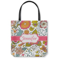 Wild Garden Canvas Tote Bag (Personalized)