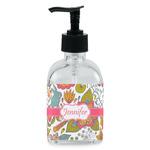 Wild Garden Soap/Lotion Dispenser (Glass) (Personalized)