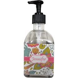 Wild Garden Soap/Lotion Dispenser (Glass) (Personalized)