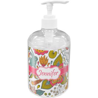 Wild Garden Acrylic Soap & Lotion Bottle (Personalized)