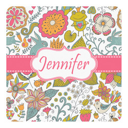 Wild Garden Square Decal - Custom Size (Personalized)
