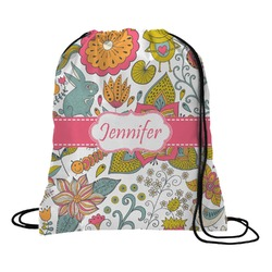 Wild Garden Drawstring Backpack (Personalized)