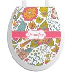 Wild Garden Toilet Seat Decal (Personalized)