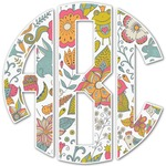 Wild Garden Monogram Decal - Custom Sized (Personalized)