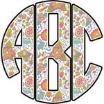Wild Garden Monogram Wall Decal (Personalized)
