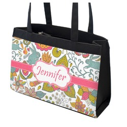 Wild Garden Zippered Everyday Tote (Personalized)