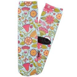 Wild Flowers Adult Crew Socks (Personalized)