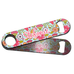 Wild Flowers Bar Bottle Opener w/ Name or Text