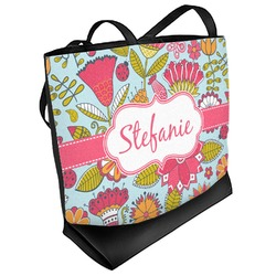 Wild Flowers Beach Tote Bag (Personalized)