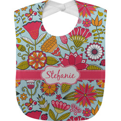Wild Flowers Baby Bib (Personalized)
