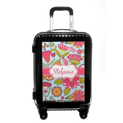 Wild Flowers Carry On Hard Shell Suitcase (Personalized)
