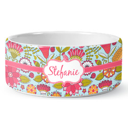 Wild Flowers Pet Bowl (Personalized)