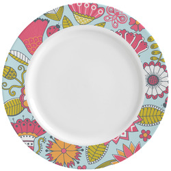 Wild Flowers Ceramic Dinner Plates (Set of 4) (Personalized)