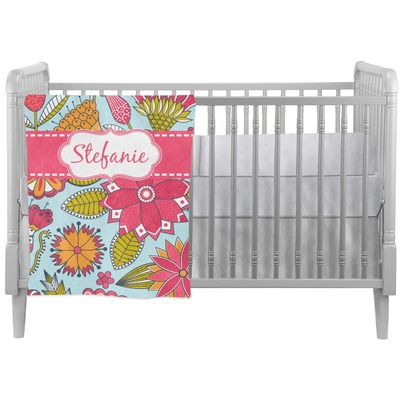 Wild Flowers Crib Comforter / Quilt (Personalized)