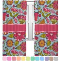 Wild Flowers Curtains (2 Panels Per Set) (Personalized)