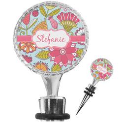 Wild Flowers Wine Bottle Stopper (Personalized)