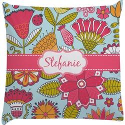 Wild Flowers Decorative Pillow Case (Personalized)