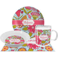 Wild Flowers Dinner Set - Single 4 Pc Setting w/ Name or Text