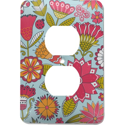 Wild Flowers Electric Outlet Plate (Personalized)
