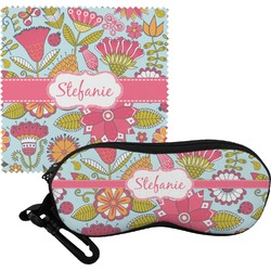 Wild Flowers Eyeglass Case & Cloth (Personalized)