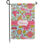 Wild Flowers Garden Flag - Single or Double Sided (Personalized)