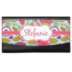 Wild Flowers Genuine Leather Ladies Wallet (Personalized)