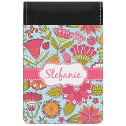 Wild Flowers Genuine Leather Small Memo Pad (Personalized)