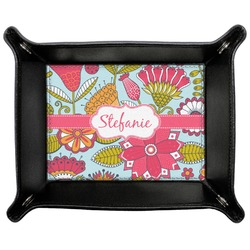 Wild Flowers Genuine Leather Valet Tray (Personalized)