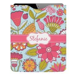 Wild Flowers Genuine Leather iPad Sleeve (Personalized)