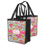 Wild Flowers Grocery Bag (Personalized)
