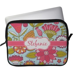 "Wild Flowers Laptop Sleeve / Case - 12"" (Personalized)"