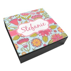 Wild Flowers Leatherette Keepsake Box - 8x8 (Personalized)