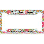 Wild Flowers License Plate Frame (Personalized)
