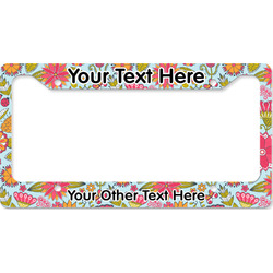 Wild Flowers License Plate Frame - Style B (Personalized)