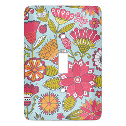 Wild Flowers Light Switch Cover (Single Toggle) (Personalized)