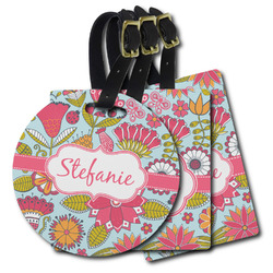 Wild Flowers Plastic Luggage Tags (Personalized)