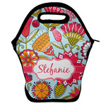 Wild Flowers Lunch Bag w/ Name or Text